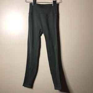 Lululemon green high rise leggings